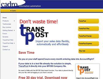 transpost.com.au screenshot
