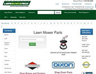 lawnmowerpros.com screenshot
