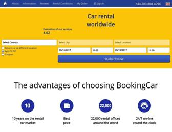 bookingcar-europe.com screenshot