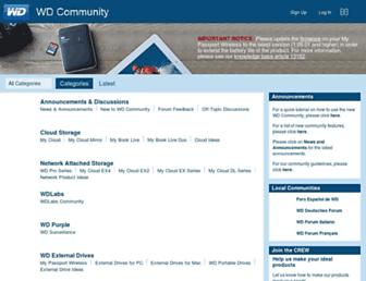 community.wd.com screenshot