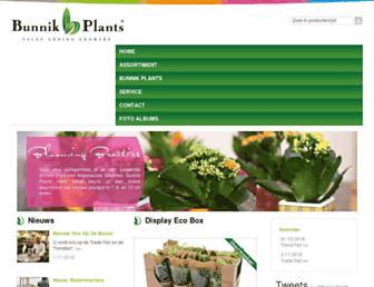 bunnikplants.nl screenshot
