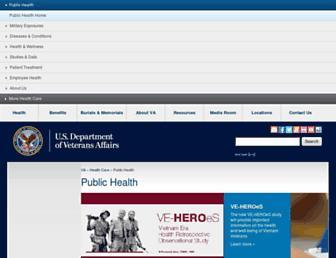 publichealth.va.gov screenshot