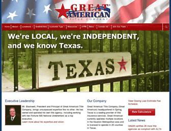 greatamtitleco.com screenshot