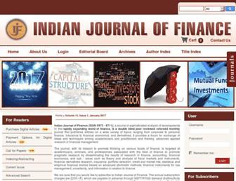 indianjournaloffinance.co.in screenshot