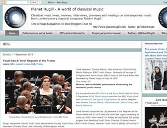 Main page screenshot of hugill.blogspot.co.uk