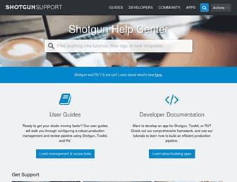 support.shotgunsoftware.com screenshot
