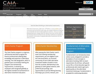 caia.org screenshot