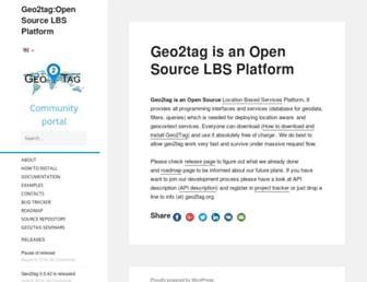 geo2tag.org screenshot