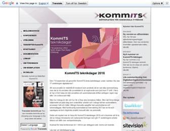 Main page screenshot of kommits.se