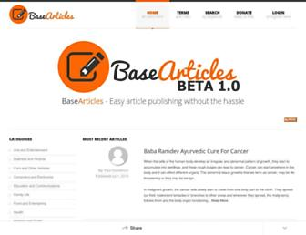 Thumbshot of Basearticles.com