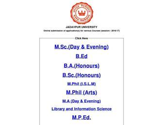 admissionas.jdvu.ac.in screenshot