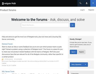 forum.red-gate.com screenshot