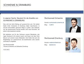 Main page screenshot of spreerecht.de
