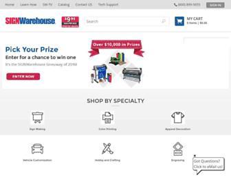 Thumbshot of Signwarehouse.com