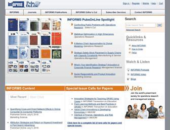 pubsonline.informs.org screenshot