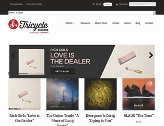 tricyclerecords.com screenshot