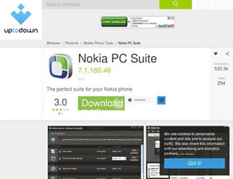 nokia-pc-suite.en.uptodown.com screenshot