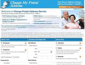 Thumbshot of Changemypostaladdress.com