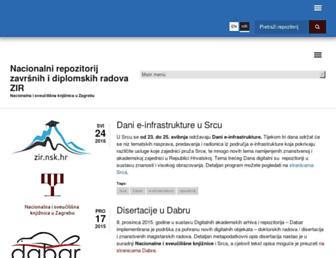 zir.nsk.hr screenshot