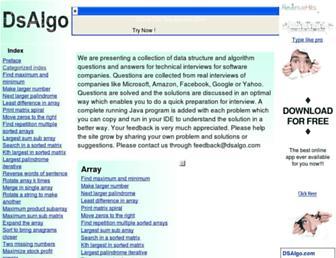 Thumbshot of Dsalgo.com