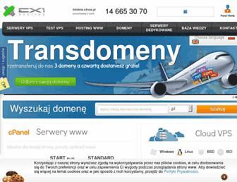 Main page screenshot of exone.pl