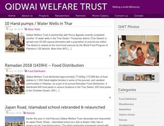 qidwaiwelfare.com screenshot