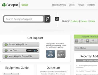 support.panopto.com screenshot