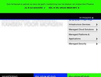 Main page screenshot of proserve.nl