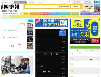 Main page screenshot of shikiho.jp
