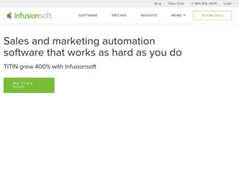 Thumbshot of Infusionsoft.com