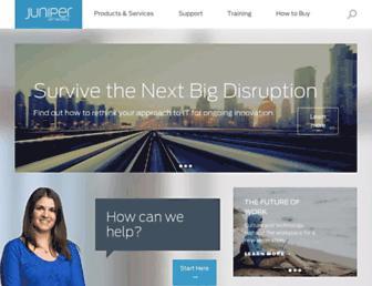 Main page screenshot of juniper.net