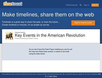 timetoast.com screenshot