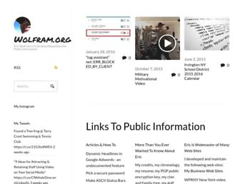 Main page screenshot of wolfram.org