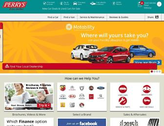 Main page screenshot of perrys.co.uk