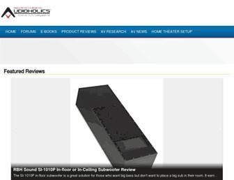 audioholics.com screenshot