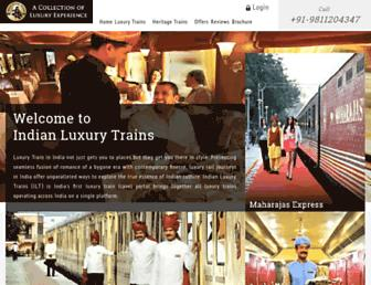 Thumbshot of Indianluxurytrains.com