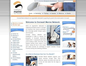 cornwallmarine.net screenshot