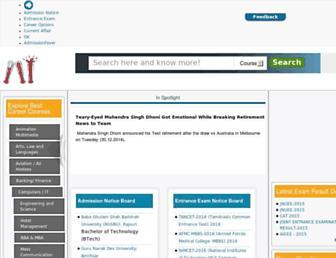 admissionfever.com screenshot