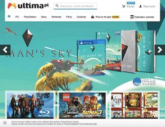 Main page screenshot of ultima.pl