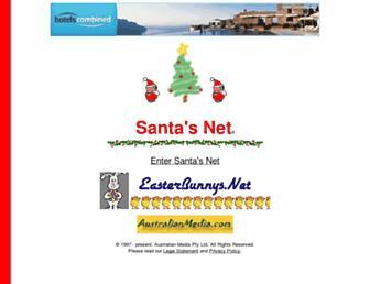 Main page screenshot of santas.net