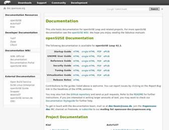 doc.opensuse.org screenshot