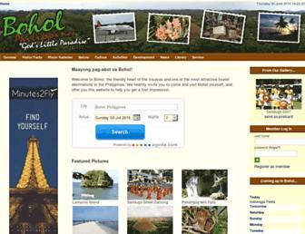 Main page screenshot of bohol.ph