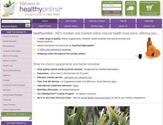 Main page screenshot of healthy.co.nz