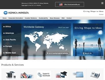 konicaminolta.com screenshot