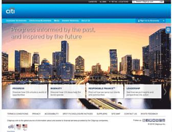 citigroup.com screenshot