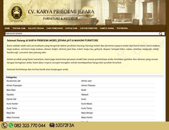 karyafurniturejepara.com screenshot