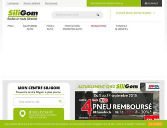 Main page screenshot of siligom.fr