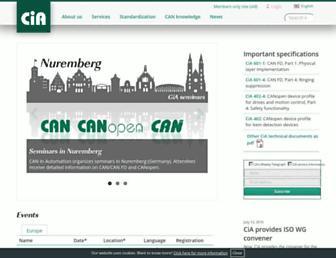 Main page screenshot of can-cia.org