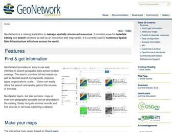 geonetwork-opensource.org screenshot