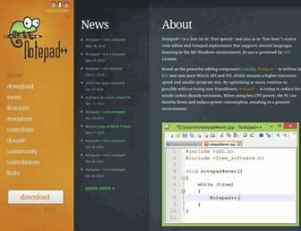 notepad-plus-plus.org screenshot